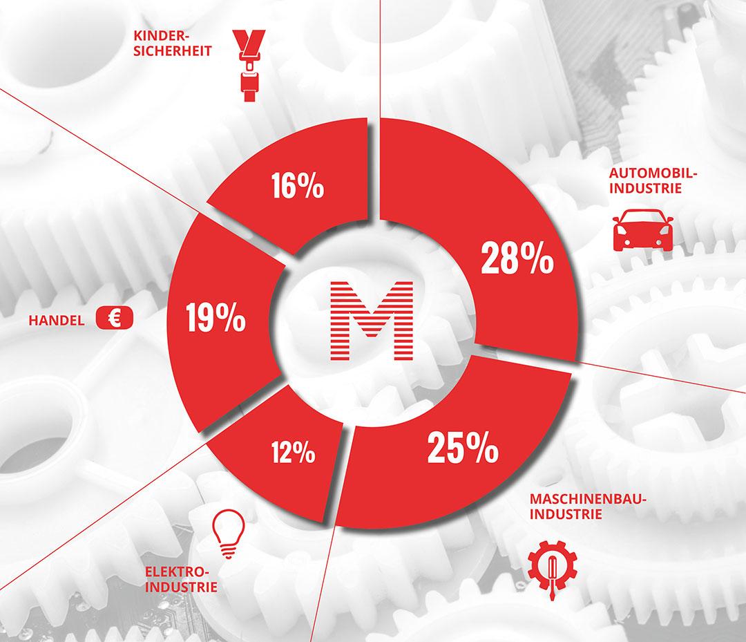 Mayer GmbH, Laichingen –Leistungen, Entwicklungen, Branchen Diagramm